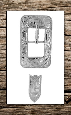 Hand Engraved German Silver Buckle Replacement Set