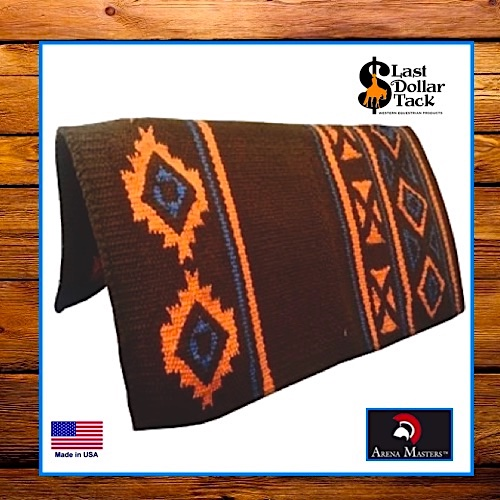 Arena Masters Show Blanket Pad - Brown