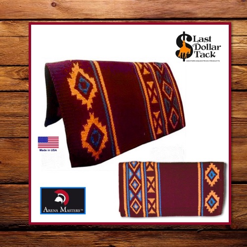 Arena Masters Show Blanket pad - Burgundy