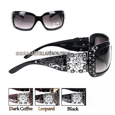 Montana West Designer Sunglasses Rhinestone Crystal Concho Accent