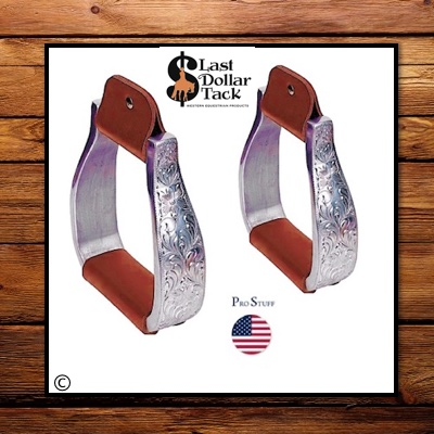 Hand Engraved Heavy Quality Aluminium Stirrups