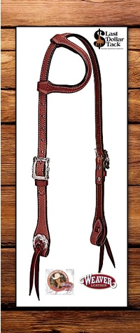 Stacy Westfall Weaver Leather Pro Tack Trailblazer Headstall - Mahogany Brown