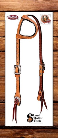 Stacy Westfall Weaver Leather Pro Tack Trailblazer Headstall -Russet