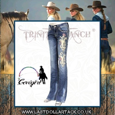 Trinity Ranch Collection Designer Jeans Crystal Embroidery - Size 16