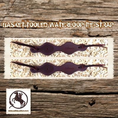 Wickett & Craig Leather Basket Tooled Waterloop Straps -Chocolate