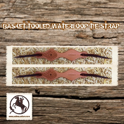 Wicket & Craig Leather Basket Tooled Waterloop Straps - Russet