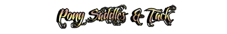 PONY SADDLES + TACK