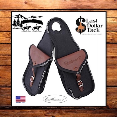 Cattleman's Western Saddle Double Horn Bag