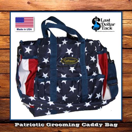 Cattleman's Large Grooming Bag Patriotic Stars & Stripes